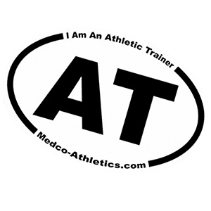 I Am An Athletic Trainer bumper sticker decals AT MedCo Athletics Athlete